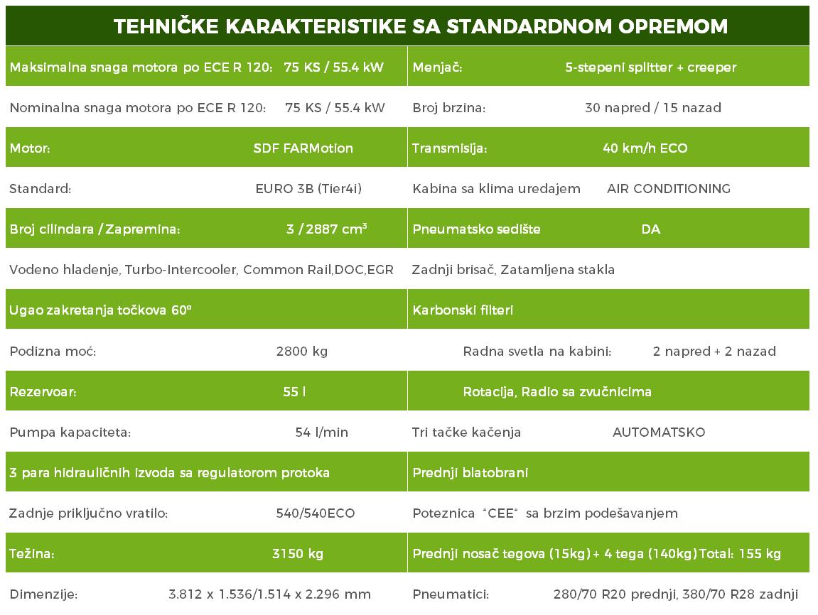 AGROTRON 6215 karakteristike